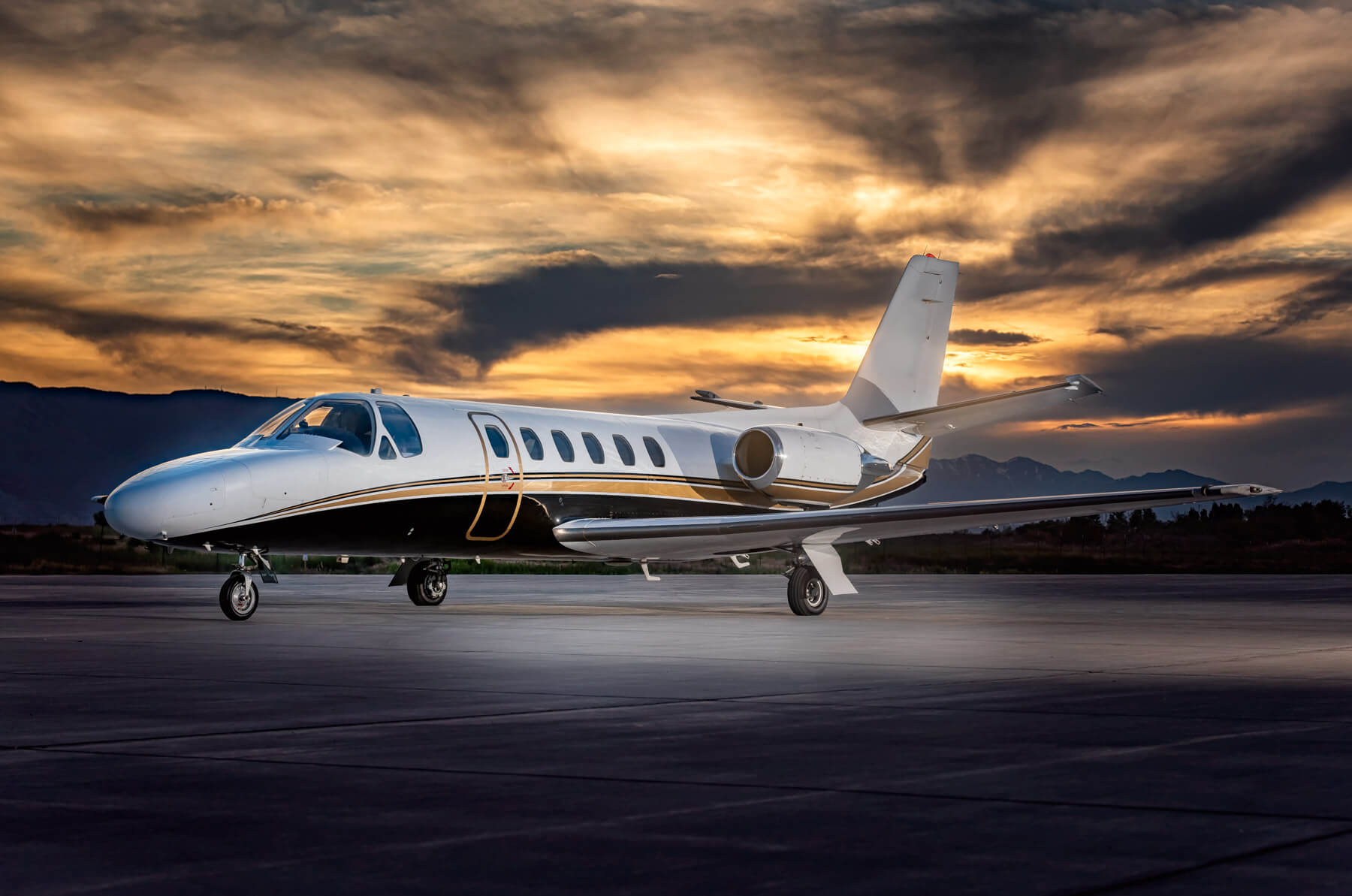 Private Jet & Aviation Photography in Utah | Cessna Citation II